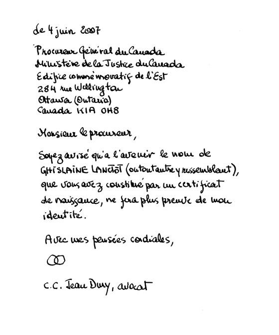 lettre fictive